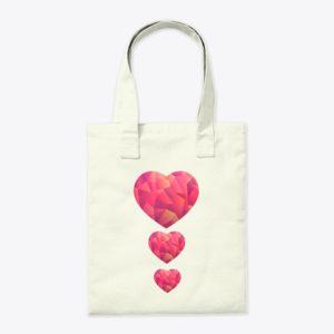 Mosaic Love heart Tote Bags