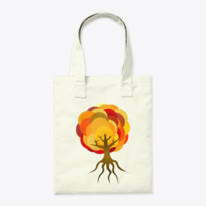 Balloon Autumn Tree Tote Bag