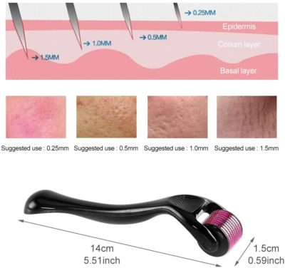 Derma roller needled size for face guidelinesn