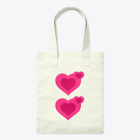 Double Heart Tote Bag