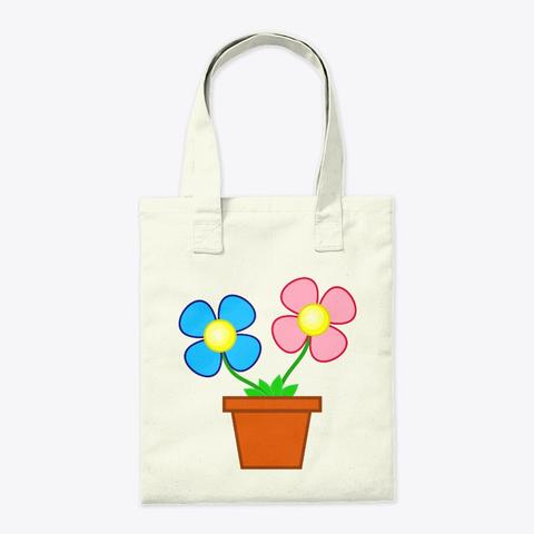 Flower Pot Canvas Tote Bag