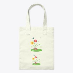 Flowers in Pebbles Tote Bag