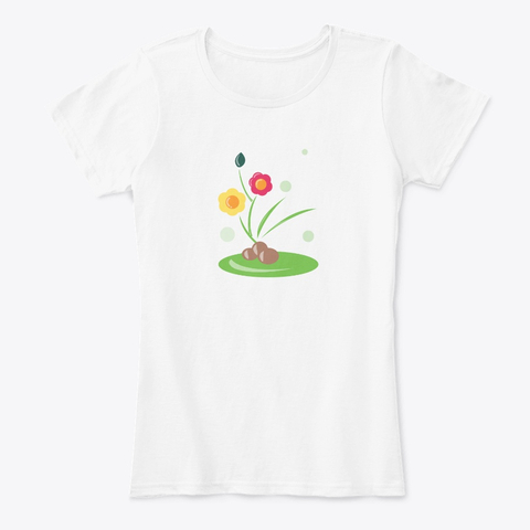 Flowers in Pebbles t-shirt