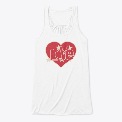 Love Word in a Red Heart Tank Top