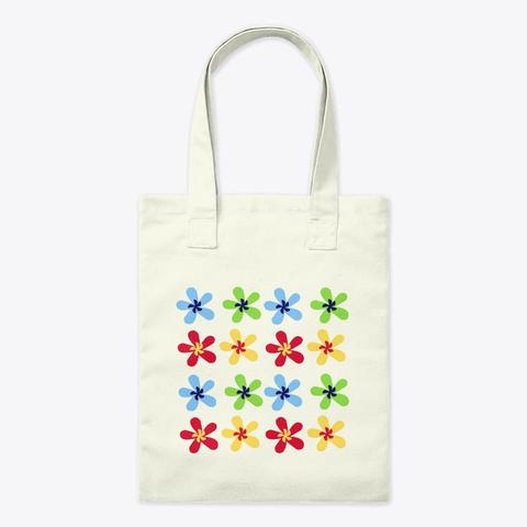 Petal Flower Canvas Tote Bag
