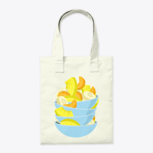 Stacked Fruit Bowl Canvas Tote Bag