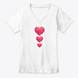 Mosaic Love heart T-Shirt