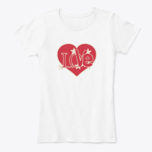 Love Word in a Red Heart T-Shirt