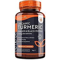 Organic Turmeric Curcumin 1440mg with Black Pepper & Ginger